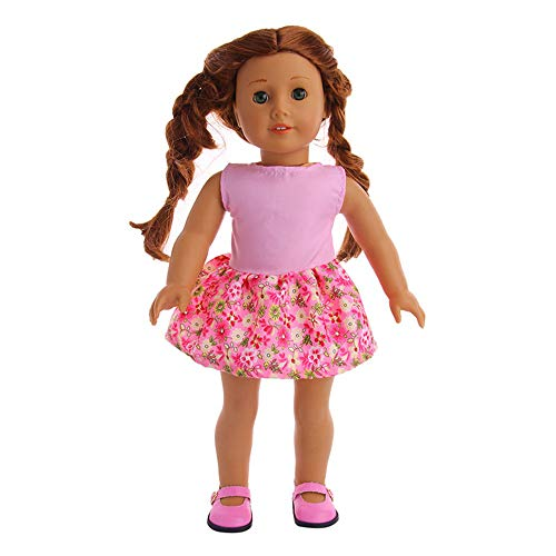 PSFS for 18 Inch American Girl Doll Accessory Girl Toy,Clothes Wardrobe Clothes Dress (Multicolor)
