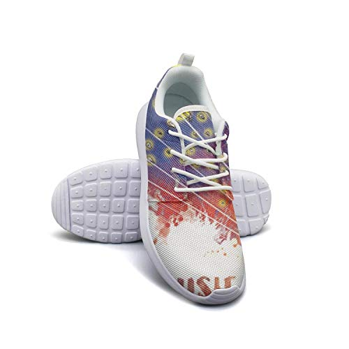 dhaskhdkl Happy Firefly Music Festival Men Flat Bottom Casual Shoes Care Walking Shoes ()