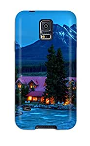 For Galaxy Case, High Quality Pink Mountain House For Galaxy S5 Cover Cases