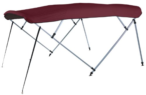 - Square Tube Bimini Top Replacement Canvas with Nylon Fittings, Burgundy Sunbrella 8'L, 48