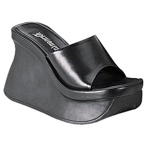 Demonia Pace-01 - scarpe gotiche plateau sandali 36-42, US-Damen:EU-39 / US-9 / UK-6