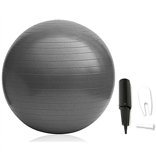 VIVINATURE Inflatable Fitness Ball Anti-slip Stability Ball 75cm Diameter 200kg Weight Capacity Yoga Ball Premium Exercise Ball Swiss Ball with Pump (Black)