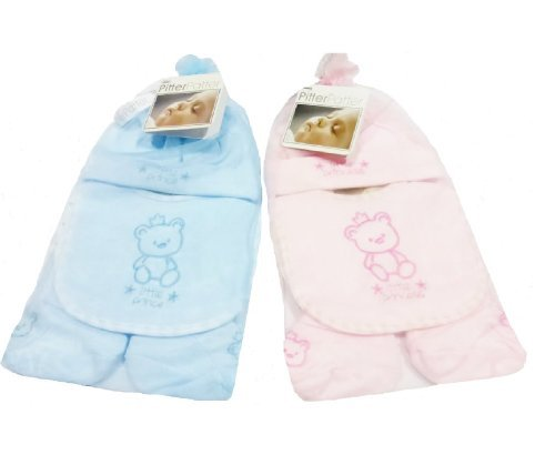 Pitter Patter Baby Clothes (Teddy Bear Four Piece Gift Set for Tween: Baby Girl and Baby Boy)