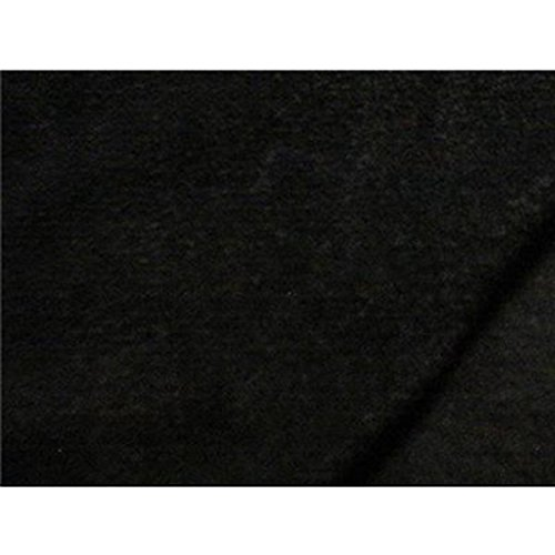 Solid Anti-Pill Polar Fleece; No-Sew Tie Blanket Fabric (Black)