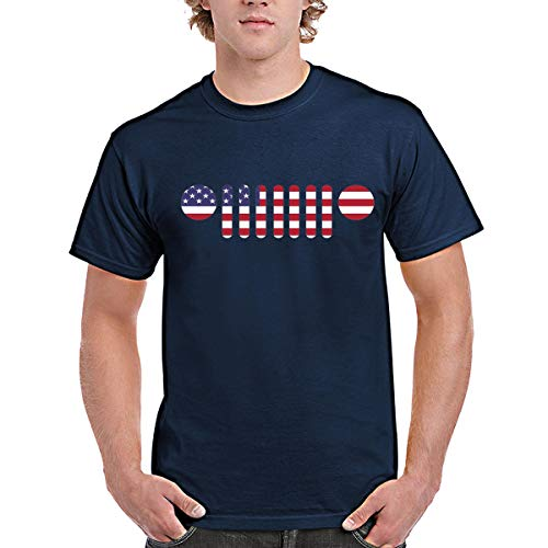 zipstore Jeep T-Shirt for Men Women Proud of US. Jeep and American Flag by zipstore