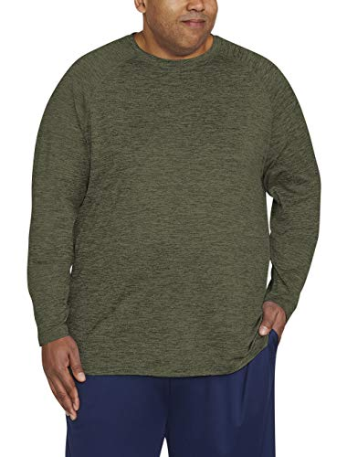 Amazon Essentials Men's Big & Tall Tech Stretch Long-Sleeve T-Shirt fit by DXL