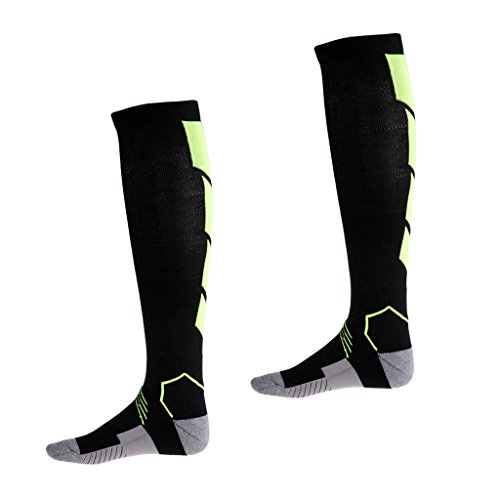1 Mdicales Les Vert Running Pour Et Voyage Chaussettes Vol Compression Fitness D'allaitement Perfk De Paire amp; Noir Idales wtx4SR