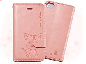 Xinjie Apple Iphone4 Iphone4s Case DMM Pu Leather with Card Holder Stand Case Cover for Apple Iphone4 Iphone 4s (pink)
