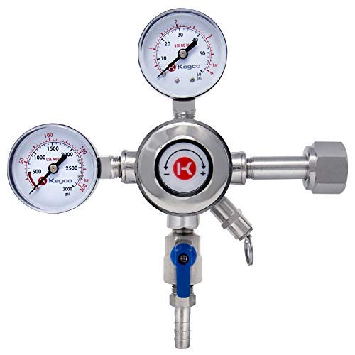 (Kegco KC LH-542 Premium Pro Series Dual Gauge Co2 Draft Beer Regulator, Chrome)