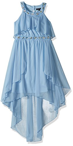 My Michelle Big Girls' Halter Dress, Sky Blue, 8 (My Michelle Clothes)