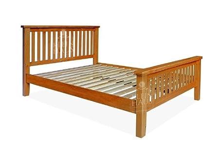 Oak Furniture   Oak Bed   4.6ft Double High End Bed   Sherwood Oak