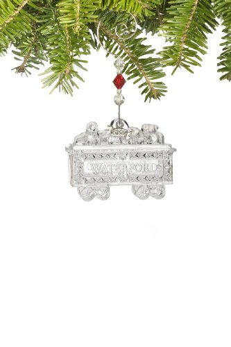 Waterford Crystal 2009 Coal Car, Christmas Ornament, Second in a Series