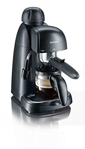SEVERIN KA 5978 Cafetera Espresso, Incl. Jarra para Servir y Cuchara Dosificadora, Hasta 4 Tazas, 800 W, Plástico, Negro