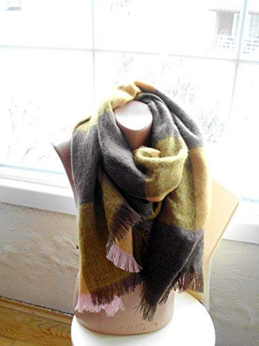 Blanket shawl Oversized winter scarf Large fringed wrap shoulder scarf Boho Style Autumn fall fashion Christmas gift
