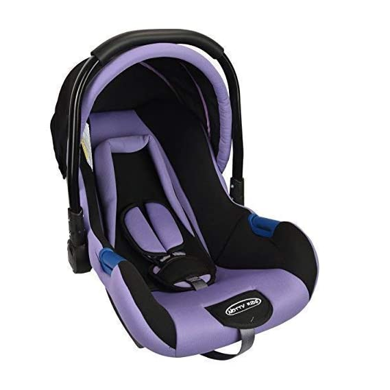 Notty Ride Baby Car Seat Cum Carry Cot with Canopy(Purple)