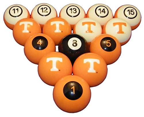 NCAAテネシーボランティア番号付きプールボールセット – College Football Billiards B01DR8KB6Y