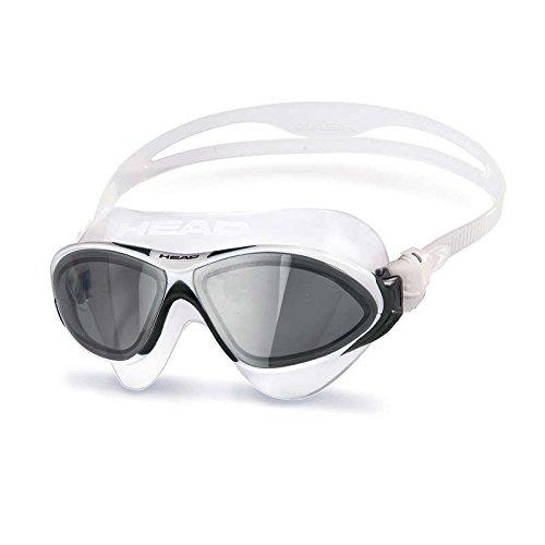 Tête Horizon Lunettes de natation–lentille fumée–Transparent/Blanc/Noir