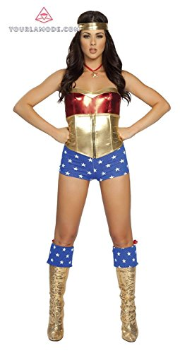 Roma Costume Comic Book Heroine Bundle with Pink Shorts