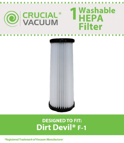 Dirt Devil F-1 Washable HEPA Filter; Fits Dirt Devil F-1; Pa