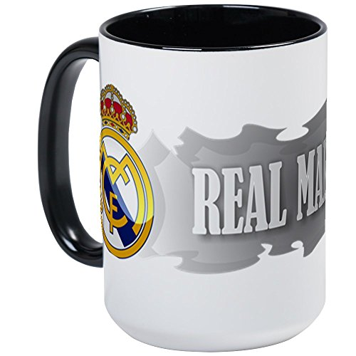 (CafePress Real Madrid Elegant Large Mug Coffee Mug, Large 15 oz. White Coffee Cup)