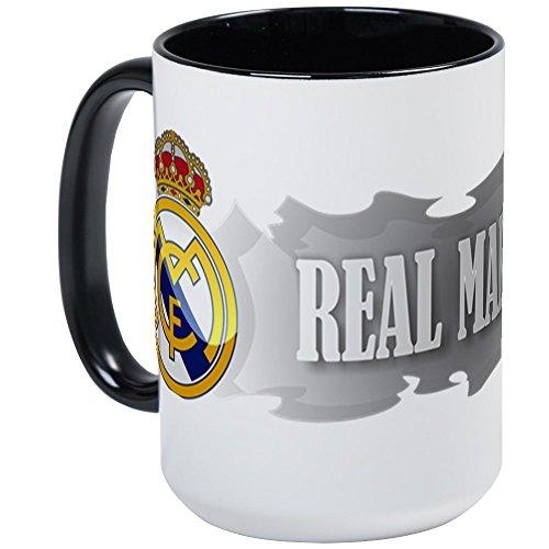 CafePress Real Madrid Elegant Large Mug Coffee Mug, Large 15 oz. White Coffee - Ceramic Madrid Real