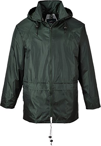 (Portwest Men's Classic Rain Jacket M (Chest 40 - 41in) - Olive )