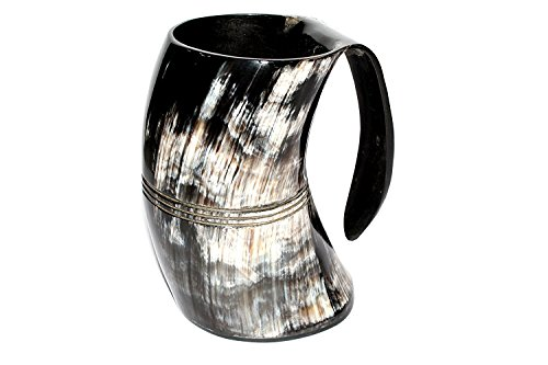 Polished Finish Drinking Horn Tankard -