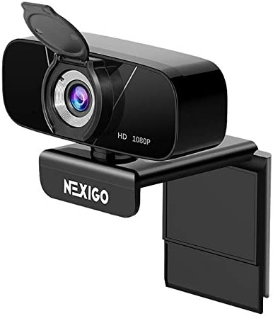 1080P Streaming Webcam with Microphone & Privacy Cover, 2021 NexiGo N620 Web Camera, 90-Degree Wide Angle, for PC/Mac Laptop/Desktop, Zoom Skype FaceTime Teams