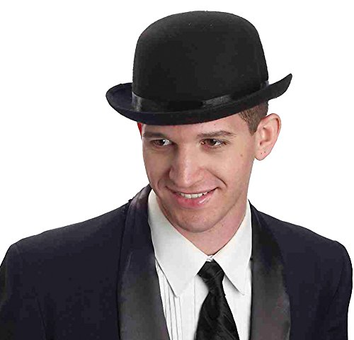Deluxe Derby Adult Hat (Derby Black Deluxe Adult Hat Halloween Costume - Most Adults)