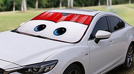 Grey Eyes Fashion Design Cartoon Eyes Front Auto Car Windshield Sun Shade Sun Visor