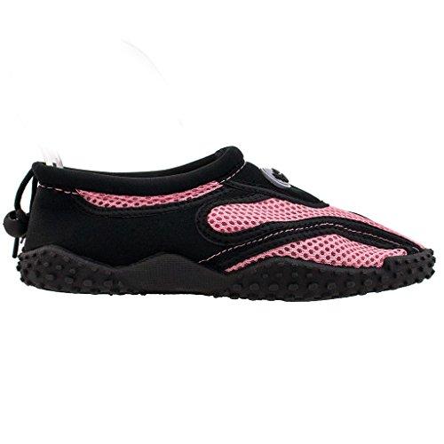 Londa Womens Water Shoes Piscina Spiaggia Aqua Socks Yoga Esercizio Tendenze Snj 1185l / A Nero Rosa