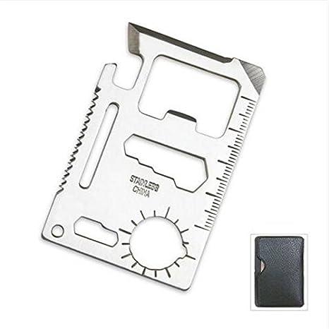 1PCSTactical Mini Knife Card Tarjeta de herramienta multifuncional salvavidas Supervivencia al aire libre - Multifuncional Herramienta de ...