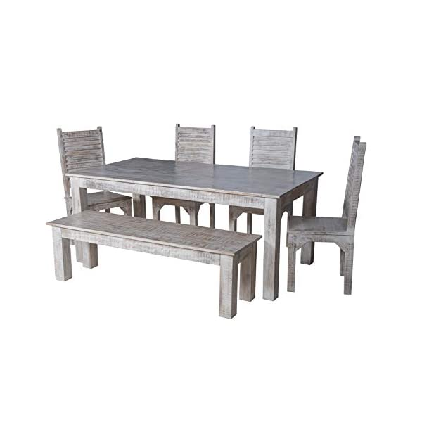 Maadze 6 Piece White Dining Table Set