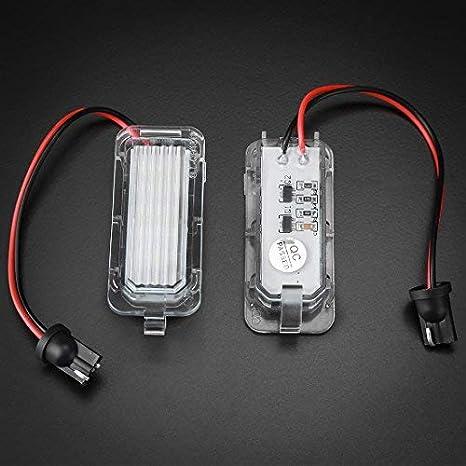 2pcs 18SMD LED Kennzeichenbeleuchtung f/ür Passat Jetta Touran