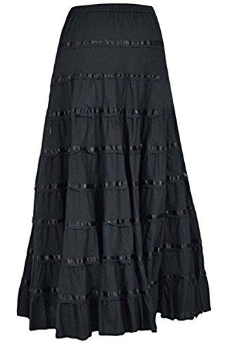 Full Circle Wrap - Phagun Women Cotton Long Skirt 9 Panel Full Circle Skirt Maxi Summer Clothing