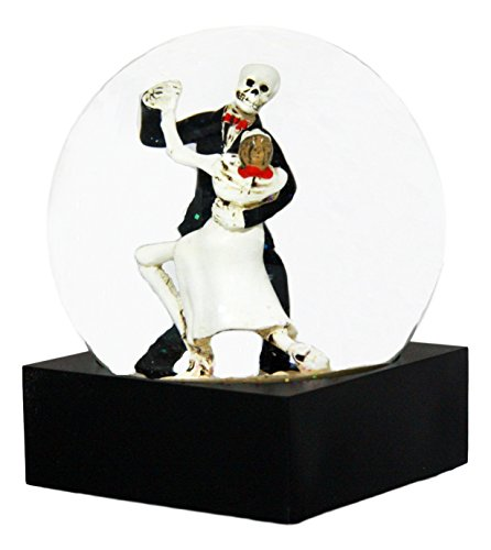 Ebros Day of The Dead Wedding Tango Skeleton Lovers Glitter Water Globe DOD Love Never Dies Couple Collectible Figurine 4.5