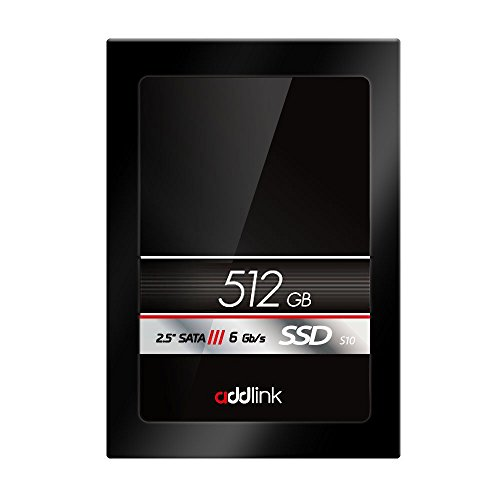 addlink SSD S10 512GB SATAIII 6Gb/s 2.5-inch/7mm Internal Solid State Drive with Read 560MB/s Write 500MB/s (ad512GBS10S3)