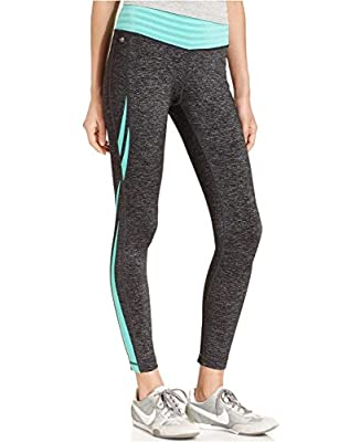 Ideology Heathered Striped-Band Active Leggings