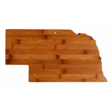 Totally Bamboo State Cutting & Serving Board, Nebraska, 100% Bamboo Board for Cooking and Entertaining