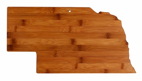 "Totally Bamboo State Cutting & Serving Board – ""NEBRASKA"", 100% Organic Bamboo Cutting Board for Cooking, Entertaining, Décor and Gifts. Designed in the USA!"