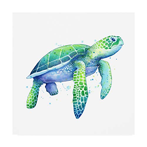 Trademark Fine Art Green Sea Turtle Painting by Sam Nage, 24x24, Multiple