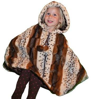 Lilly Patricia Tiger Lilly Faux Fur Poncho