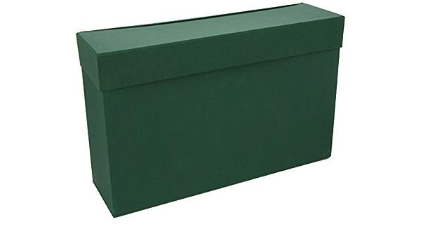 Mariola 16805 - Caja transferencia cartón forrado folio clasificador A-Z, color verde: Amazon.es: Oficina y papelería