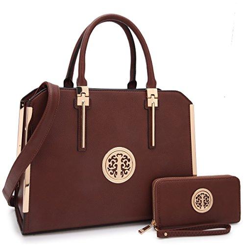 Dasein Handbags for Women Tote Shoulder Bag Satchel Top Handle Purse Frame Briefcase for Ladies