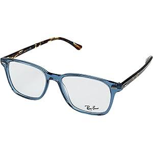 Ray-Ban RX7119 Eyeglasses Shiny Trasparent Blue 55mm