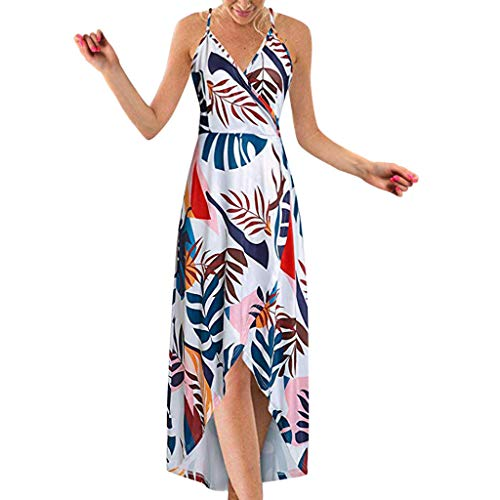 - WOCACHI Womens High Low Dresses, V Neck Spaghetti Strappy Sleeveless Floral Summer Maxi Dress Under 5 Dollars Under 10 Dollar Pleated Elegant Sexy Plus Size Holiday