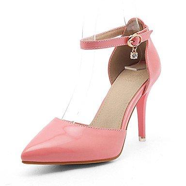 LvYuan Mujer-Tacón Stiletto-Confort-Sandalias-Oficina y Trabajo Vestido Informal-Semicuero-Rosa Rojo Blanco Almendra Pink