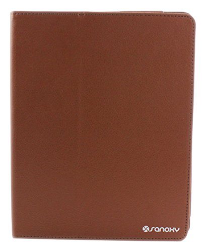 Sanoxy Slim Folio carpeta PU Funda de piel con función de atril para iPad 2/3/4, marrón (SANOXY-IPA2-FOLIO-BRN)