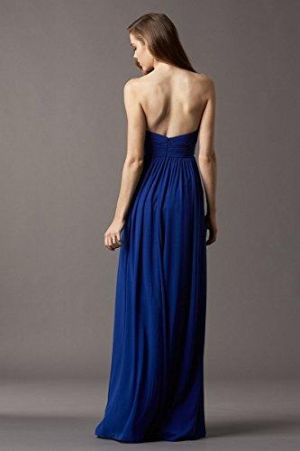 Chiffon Beauty Royal Women's AK Long Dresses C Blue 4 Style Bridesmaid ARfxqFwH
