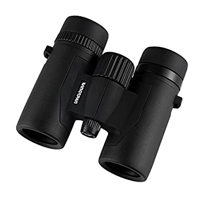 Wingspan Optics FieldView 8X32 Compact Binoculars for Bird Watching. Compact and Light Weight. Waterproof for all Weather. For Bird Watching, Watching Wildlife, or Sports Games and Concerts.